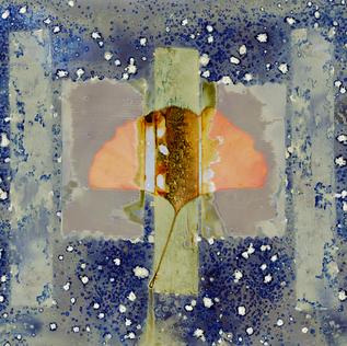 Ginko Leaf in Snow