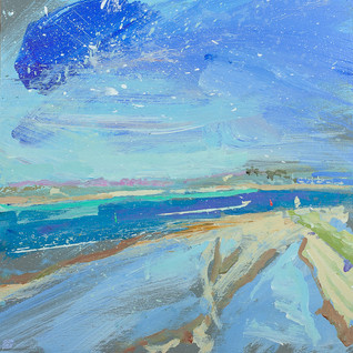 """Camel Estuary from Stepper  12x12"""" acrylic on panel £570 Padstow Gallery"""