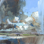 "Brea Hill  12x12"" acrylic on panel £570"