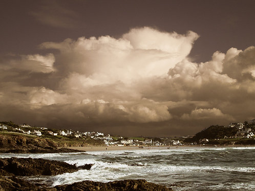 Storm at Polzeath