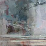 "Camel Estuary at Dusk  12x12"" acrylic on panel SOLD"