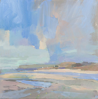 """Pentire and Daymer no.3  12x12"""" acrylic on panel SOLD"""