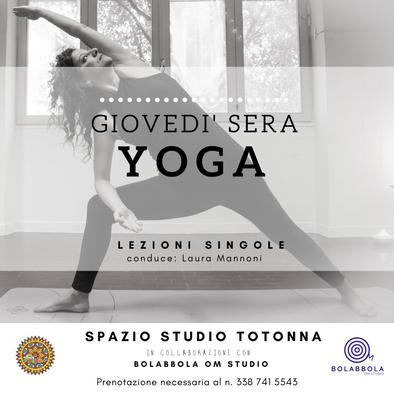 Yoga al Totonna di giovedì