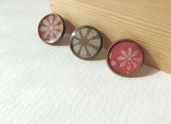 Antique Bronze Tie Tack, Clutch back Brooch Pin, Badge
