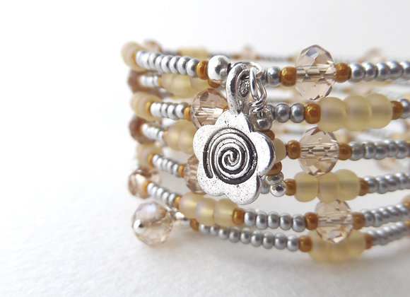 Topaz and Silver Bangle/Bracelet Set