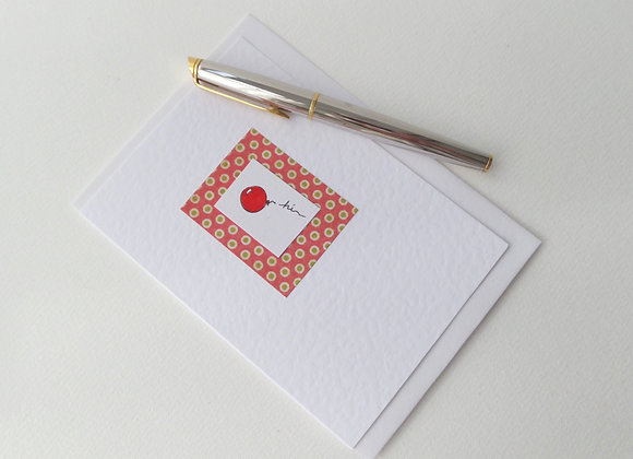 Red Balloon Card, Hi Card, Notelet, Anniversary Card
