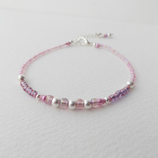 Delicate Pink Custom Bracelet