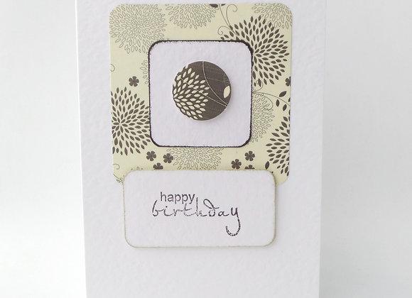 Chic Birthday Card, ivory and Black