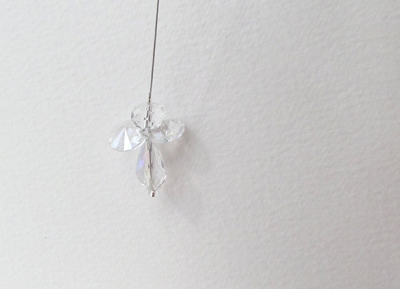 Guardian Angel, clear, Crystal Angel. small hanging Angel