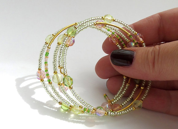 Peach and Green Gold Bangle/bracelet