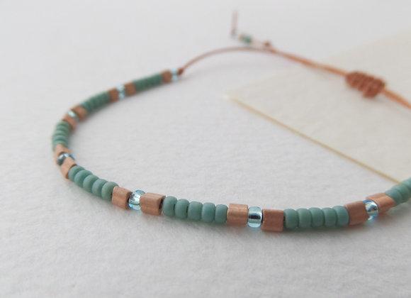 Skinny Beaded Cord, Casual Bracelet, Adjustable