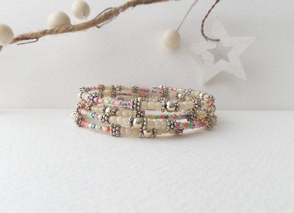Tibetan Silver Ivory Bangle/Bracelet