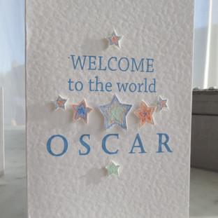 Baby Oscar card.