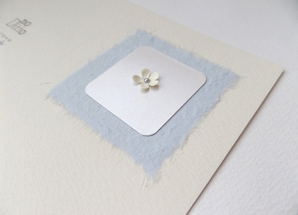 3D Flower Card, Pale Blue Tiny Flower Card