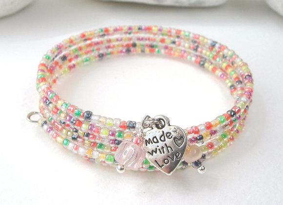 Citrus Boho Silver Bangle/Bracelet