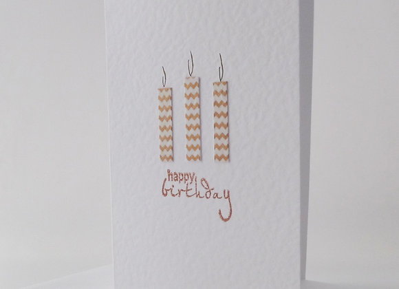 Birthday Card, Gold candles