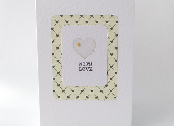 Chic With Love Card, Cream and Black