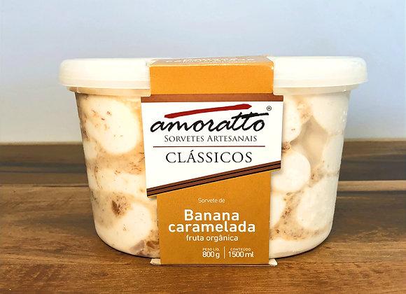 BANANA CARAMELADA - Pote 1,5L