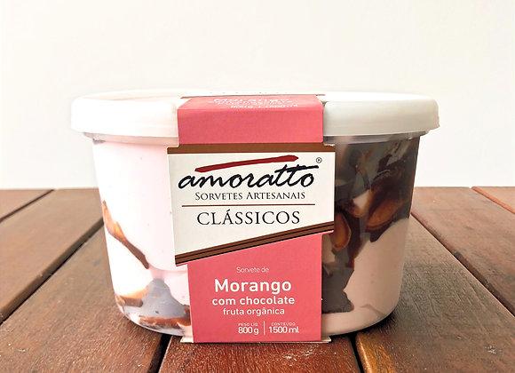 MORANGO COM CHOCOLATE - Pote 1,5L