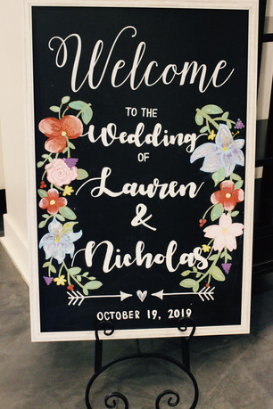 Custom Welcome Sign