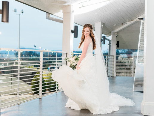 Bride on patio