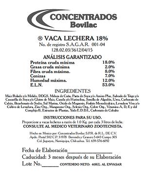Vaca Lechera 18% Bovilac