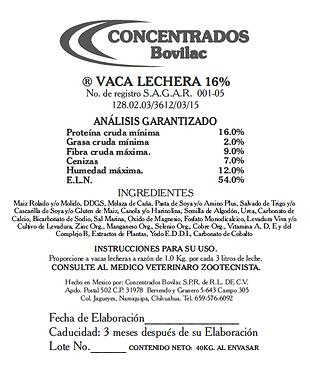 Vaca Lechera 16% Bovilac