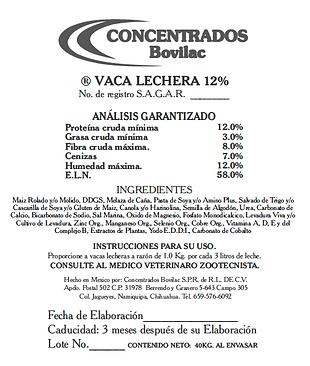 Vaca Lechera 12% Bovilac