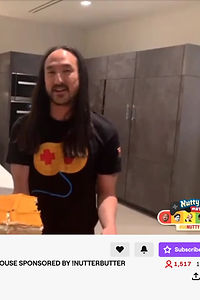 Steve Aoki's Tech Guy Gets CAKED Live on Twitch!