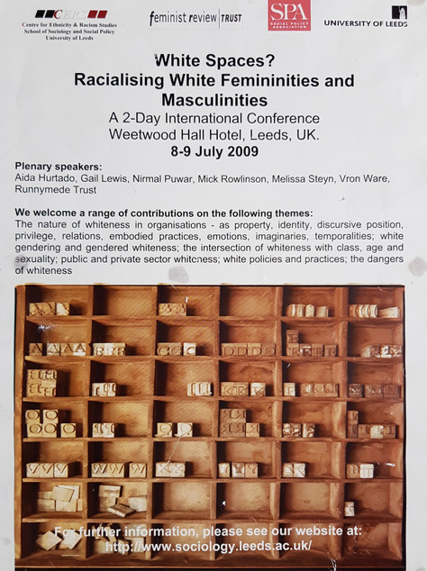Inaugural White Spaces conference poster