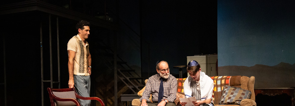 Rabbi Bindler gives Nathan a hebrew lesson