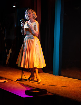 Rosemary at the Vintage Mic