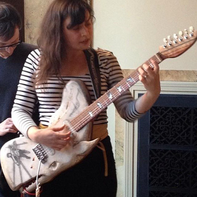 Whale Guitar builder Rachel