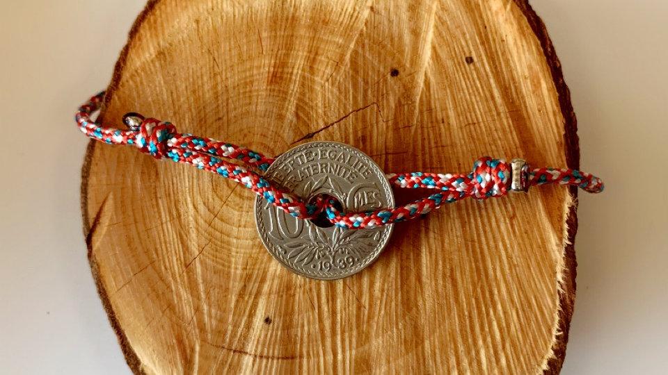 Bracelet homme bi couleur