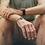 Thumbnail: Bracelet homme noir et argenté