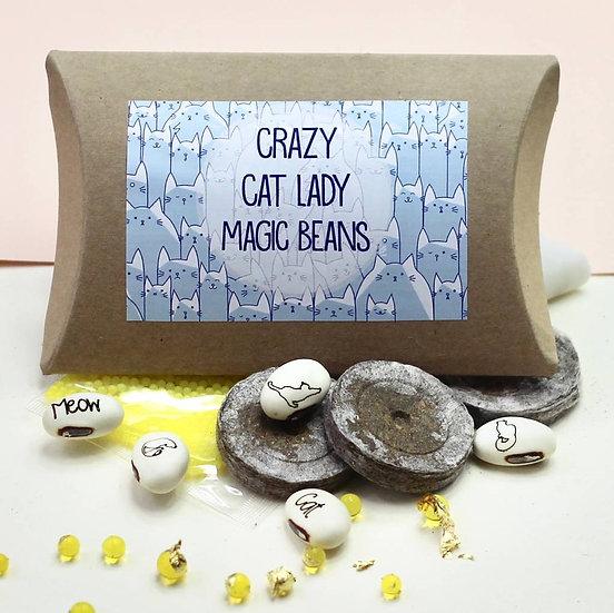 Magic Crazy Cat Lady Bean Grow Set
