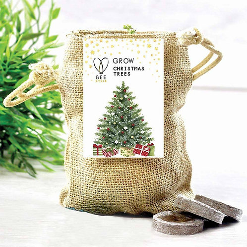 Grow A Merry Christmas Tree Jute Set