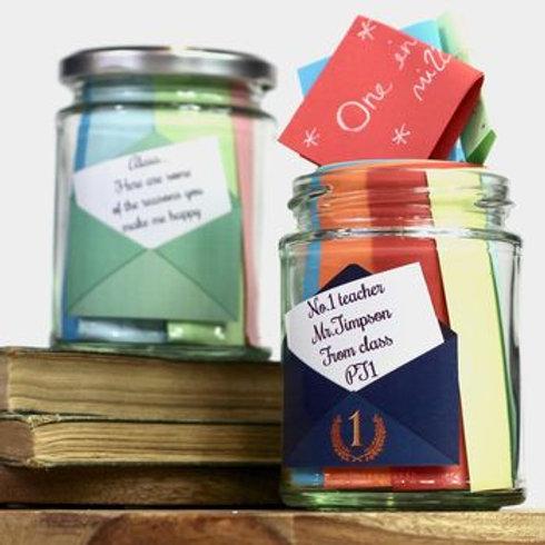 Personalised message jar set