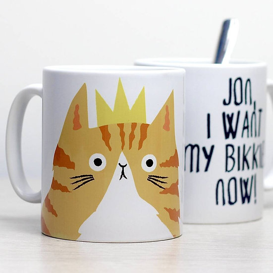 Personalised Cat of the House mug