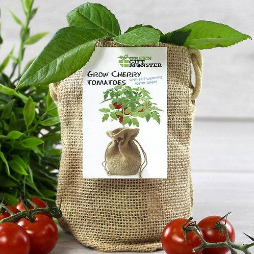 Cherry Tomato Jute Bag Grow Set