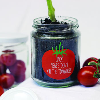 Personalised 'Don't Kill Me' Cherry Tomato jar