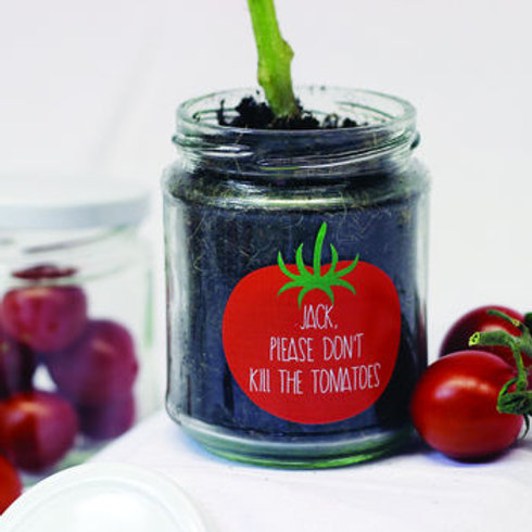 Personalised 'Don't Kill Me' Cherry Tomato jar
