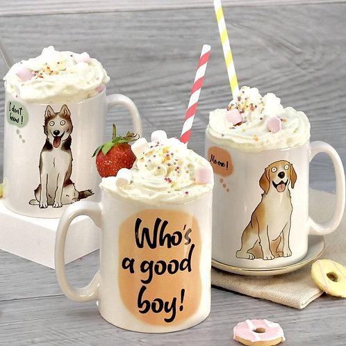 Personalised Happy Dog Mug
