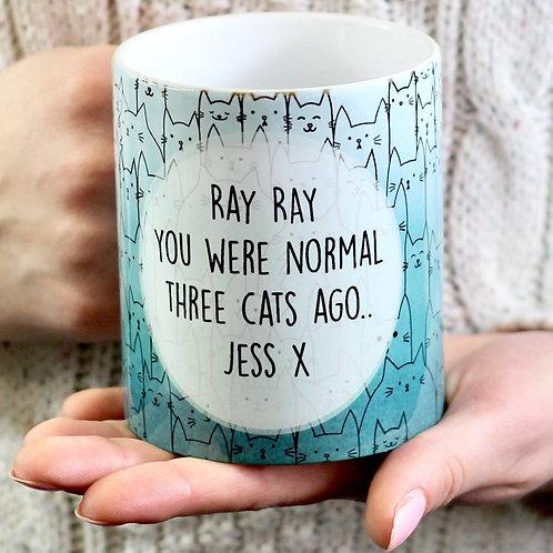 Personalised water colour cat mug
