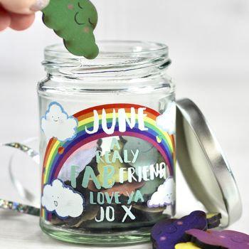 Personalised message cloud jar