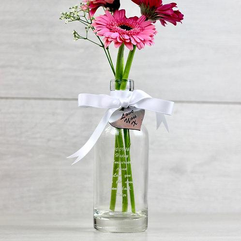 Personalised Glass Bottle Vase