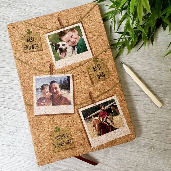 Personalised Photo Cork Notebook