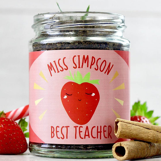 Personalised Sweet Strawberry Jar