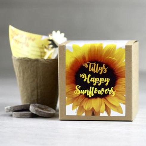 Personalised happy sunflower kit