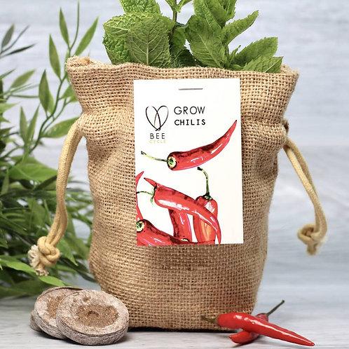 Chilli Jute Bag Grow Set